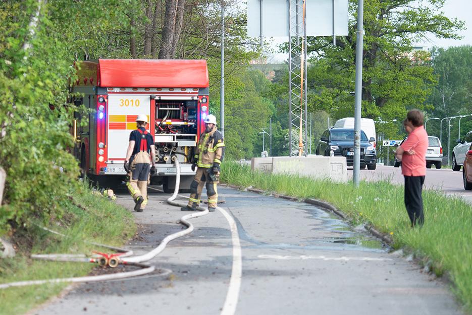 Brandkåren släckte eld i Bodal
