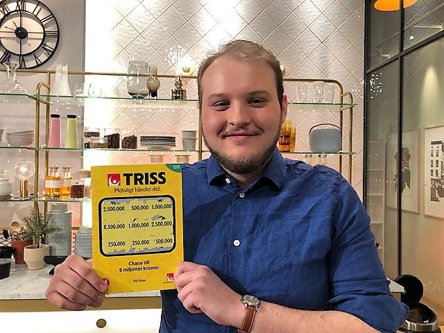 23-årig Lidingöbo vann 2,5 milj kr på Triss i tv
