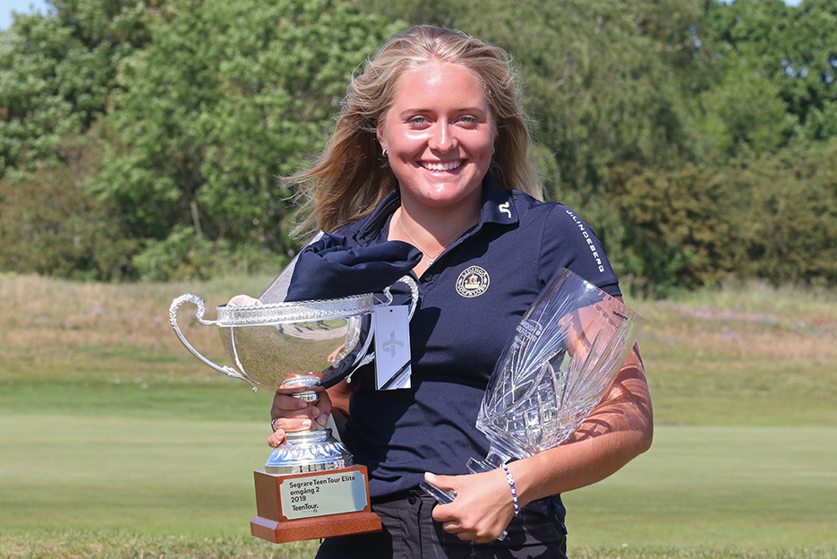 Sara Ericsson från Lidingö vann golftävling