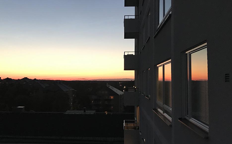 Solnedgång i juni