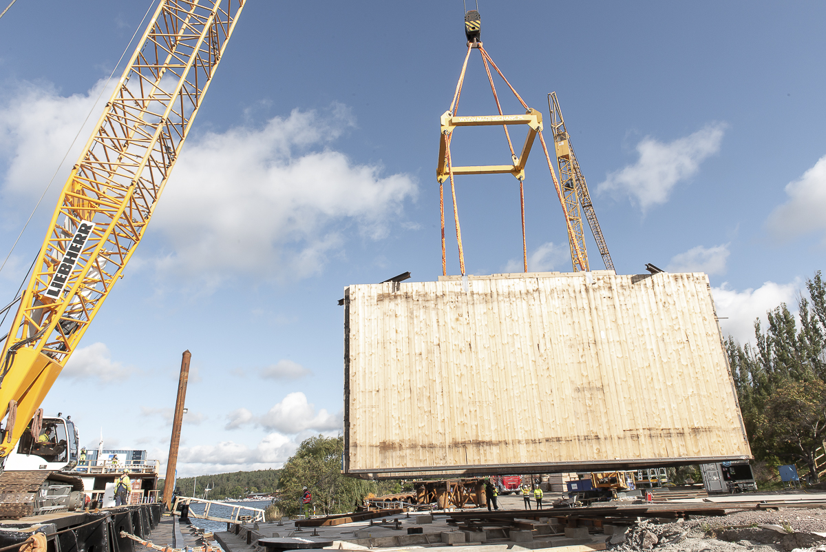 32 ton kassun testas på plats