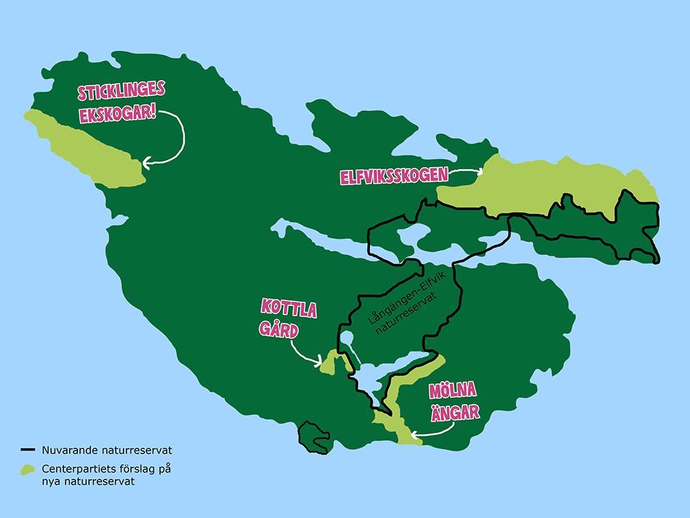 C: Skydda mer värdefull natur på ön