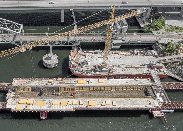 Brobygget går enligt planerna – extremvärmen till trots!