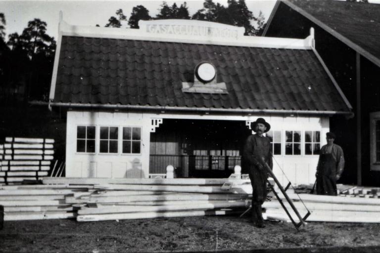 Stationshus på Lidingöbanan: AGA