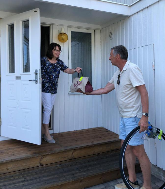 Lidingöbor i Coronatider: Eva och Gunnar Wikman