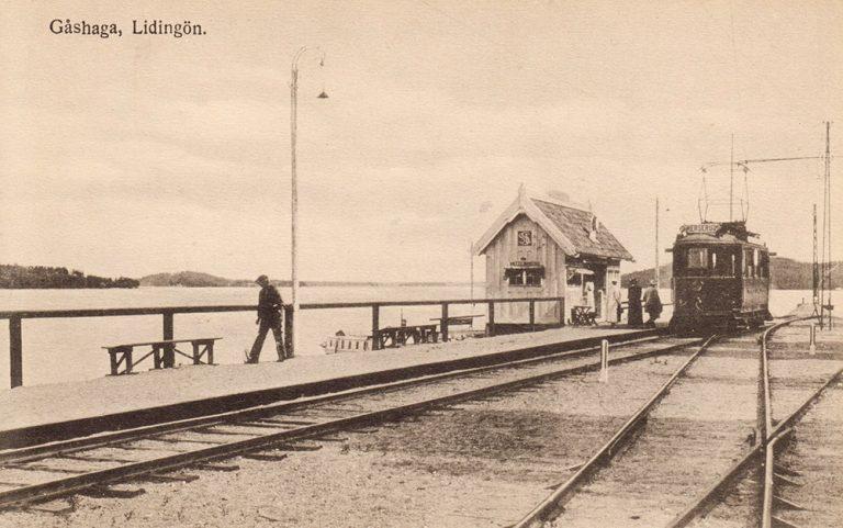 Stationshus på Lidingöbanan: Gåshaga brygga