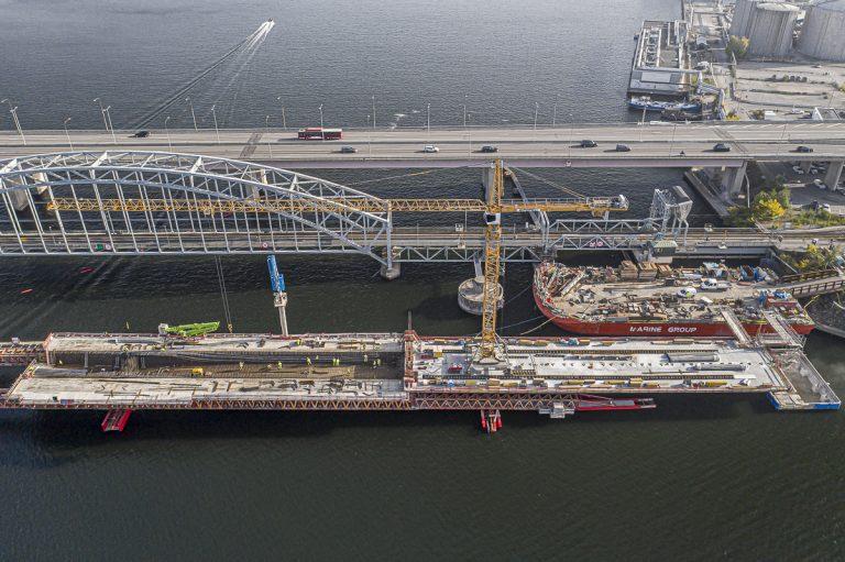 95 ton armering per tråg