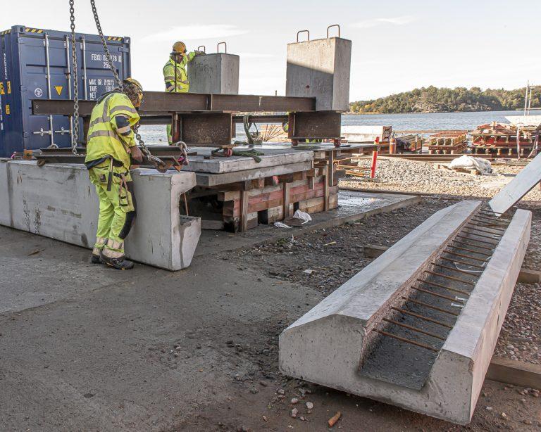 kantbalkar av betong