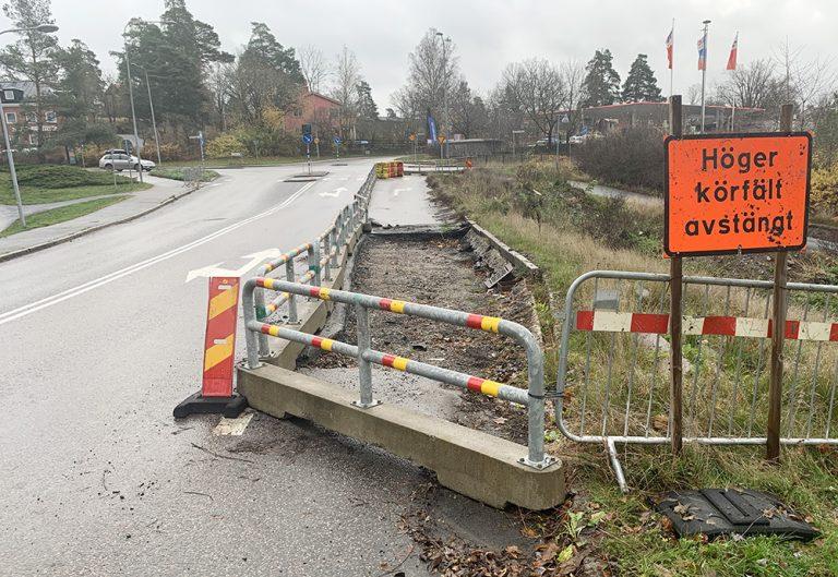 Sturevägen stängs för trafik idag – kör Bussgatan
