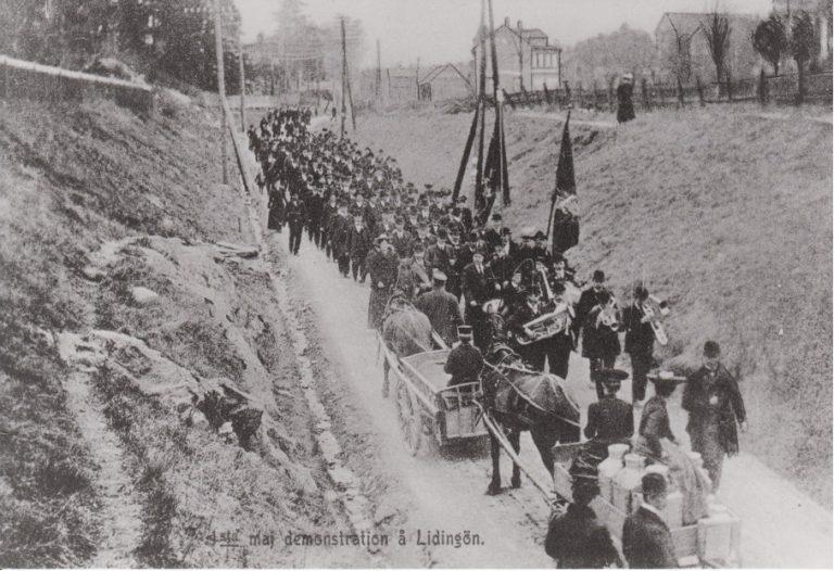 En bild berättar: Första Första-maj-demonstrationen 1907
