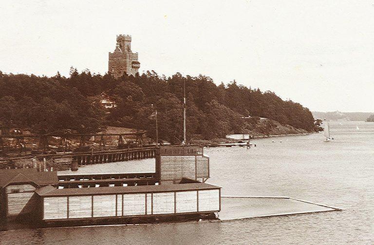 Kallbadhus på Hälsans ö, redan på 1800-talet