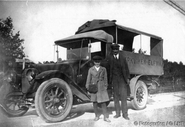 En bild berättar: Lidingös första busslinje