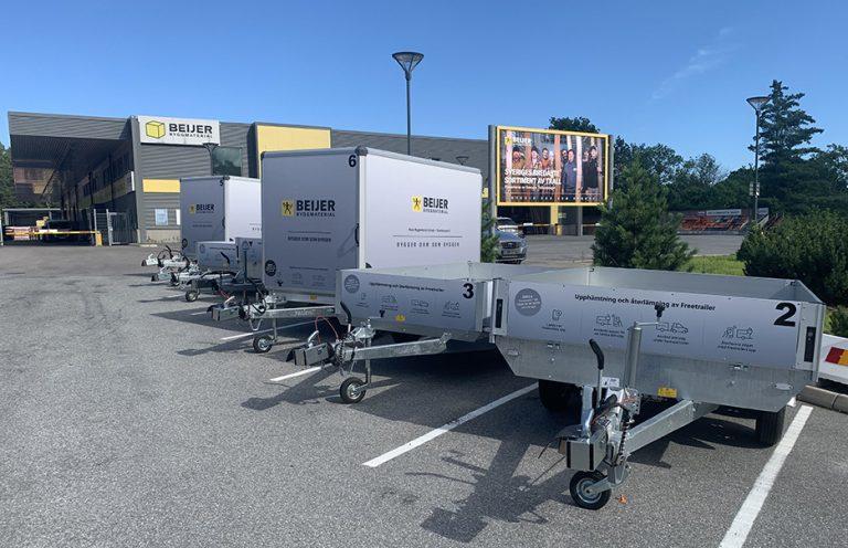 Låna gratis släpvagn hos Beijer Bygg