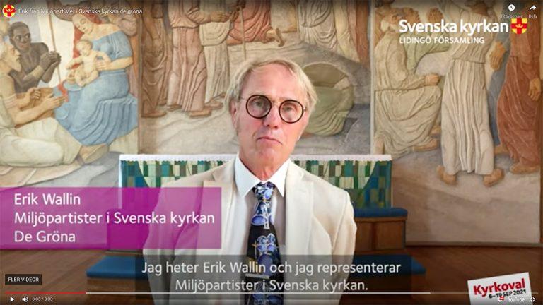 Kyrkovalet Lidingö: Miljöpartister i Svenska kyrkan De Gröna